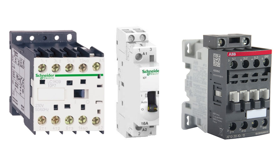 Contactor for controlling asynchronous motors